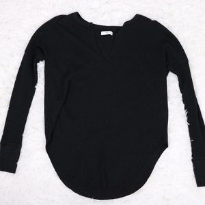 2/$20 Aritzia TNA waffle knit long sleeve top b620
